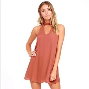 Lulus Rusty Rose Swing Dress